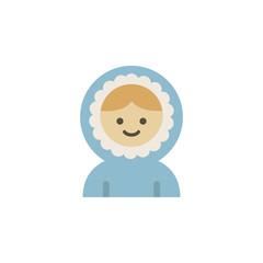 Eskimos color icon. Elements of winter wonderland multi colored icons. Premium quality graphic design icon