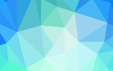 Light Blue, Green vector abstract polygonal template.