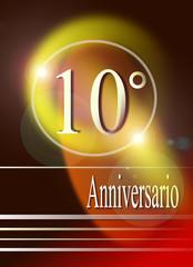 10° anniversario, progetto grafico.