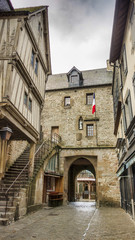 Mont Saint Michel village center, in Normandy , France