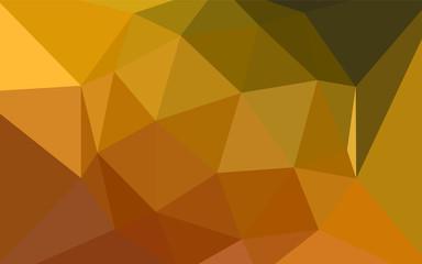 Dark Orange vector polygon abstract layout.