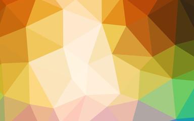 Light Multicolor vector triangle mosaic cover.