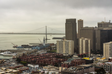 Fotomurales - San Francisco downtown from above