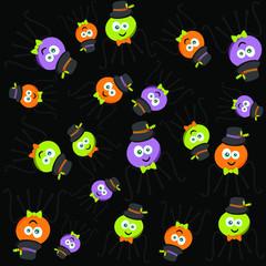 Halloween spider character vector illustration