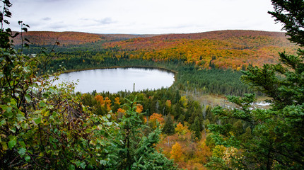 Lake on Oberg Mountain in Autumn Landscape