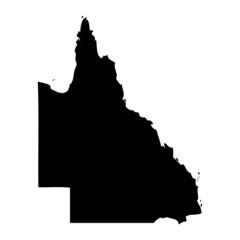 Fototapeta Black map country of Queensland obraz