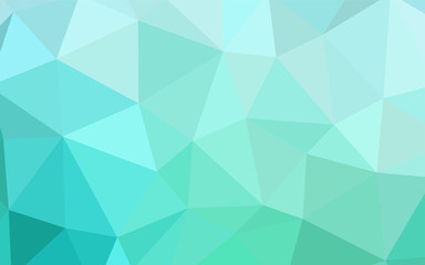 Light Green vector low poly cover.