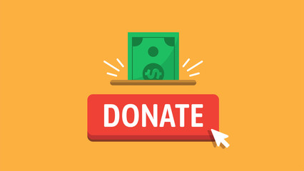 Donate button for video blog and social media