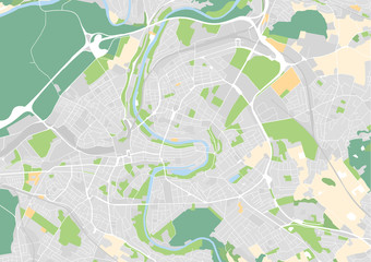 Vektor Stadtplan von Bern