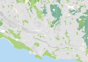 Vektor Stadtplan von Lausanne