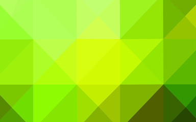 Light Green, Yellow vector abstract polygonal pattern.