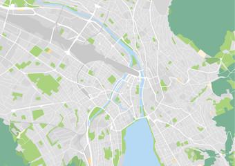 Vektor Stadtplan von Zürich