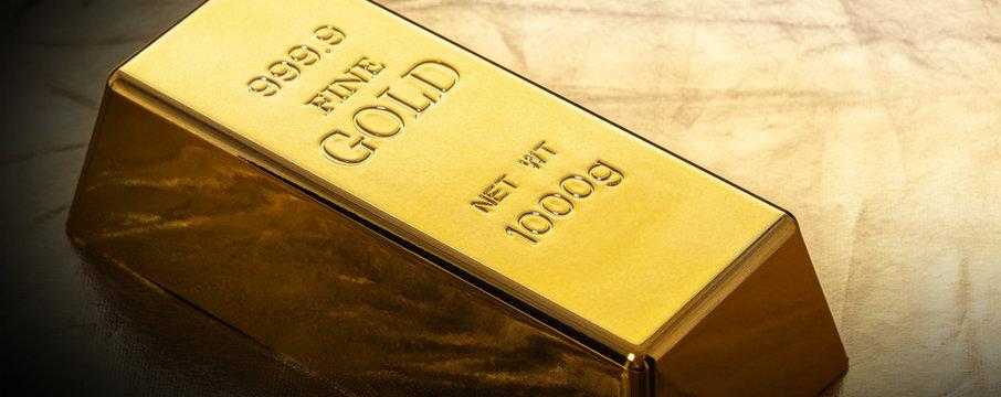 bar of gold close-up