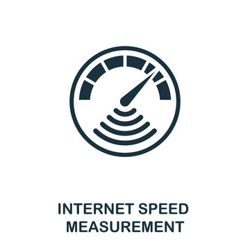 Internet Speed Measurement icon. Monochrome style design from measurement icon collection. UI and UX. Pixel perfect internet speed measurement icon. For web design, apps, software, print usage.