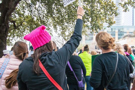 Women Participate in Protest March