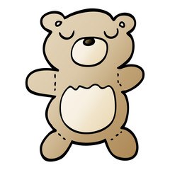 vector gradient illustration cartoon teddy bear