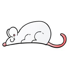 vector gradient illustration cartoon rat