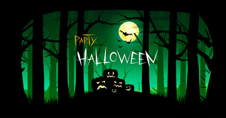 Invitation to the holiday Halloween