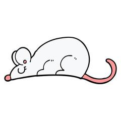 hand drawn doodle style cartoon rat