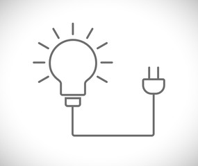 lightbulb with plug icon
