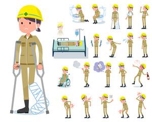 flat type helmet worker women_sickness