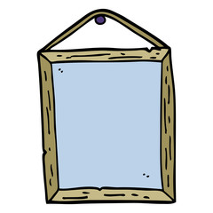 hand drawn doodle style cartoon picture frame
