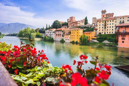 View of Bassano del Grappa, Veneto region, Italy. Popular travel destination