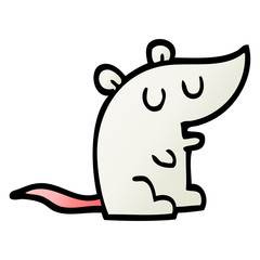 vector gradient illustration cartoon mouse
