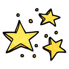 grunge textured illustration cartoon decorative stars