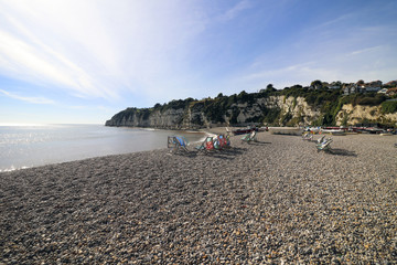 Beer beach in Devon