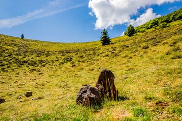 Dans le cratère du Puy Pariou  en Auvergne