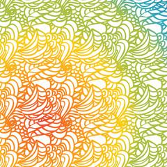 Vector doodle pattern