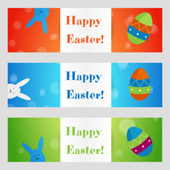 Vector Happy Easter greeting card