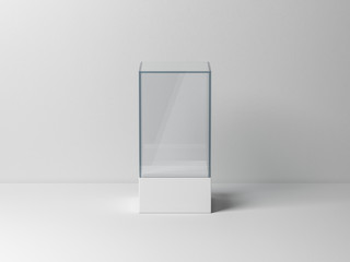 Glass box package Mockup for product presentation