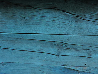 The texture of old wooden blue planks