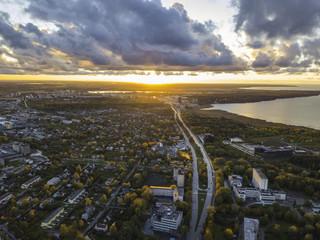 Aerial view of City Tallinn Estonia