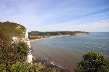 Seaton beach in Devon