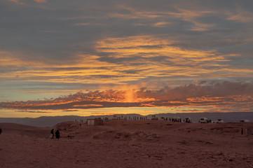 Atardecer Valle de la Luna, San Pedro de Atacama, Chile