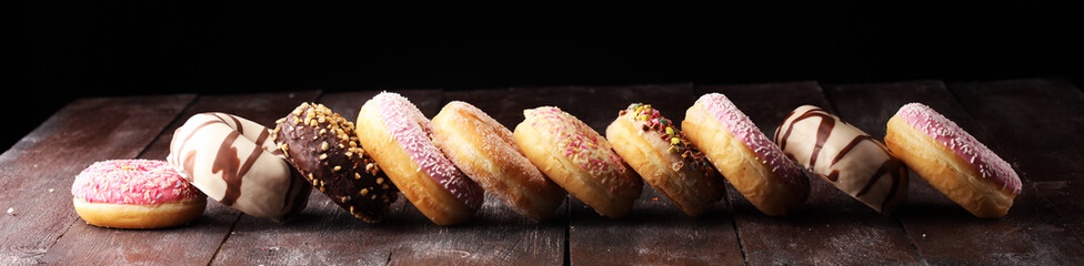 Wall Mural - donuts in different glazes
