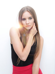 portrait of elegant girl model