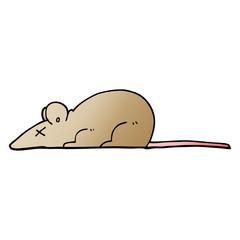 vector gradient illustration cartoon dead rat