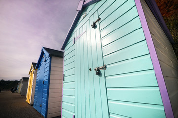 Beach huts in the UK