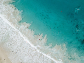arial image of the ocean