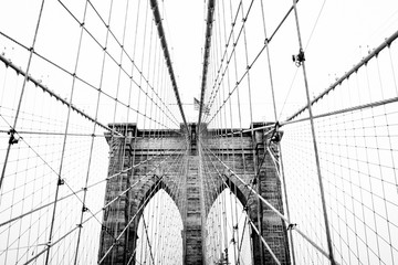 brooklyn bridge in new york Wall mural