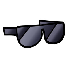 vector gradient illustration cartoon sunglasses