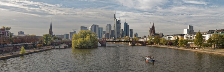 Frankfurt, Germany – city silhouette against the sky.