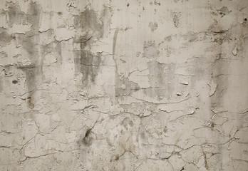 Fotobehang Oude vuile getextureerde muur Old white grunge wall background or texture.