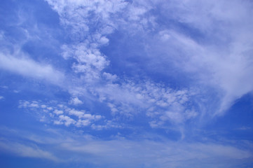 Beautiful clouds against the blue sky