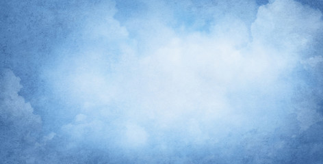 Blue cloudy background