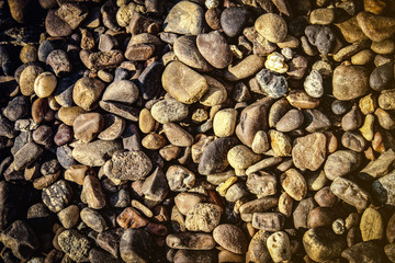 summer background of small stone pebbles